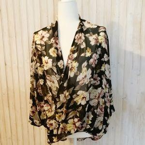 Leith floral blouse